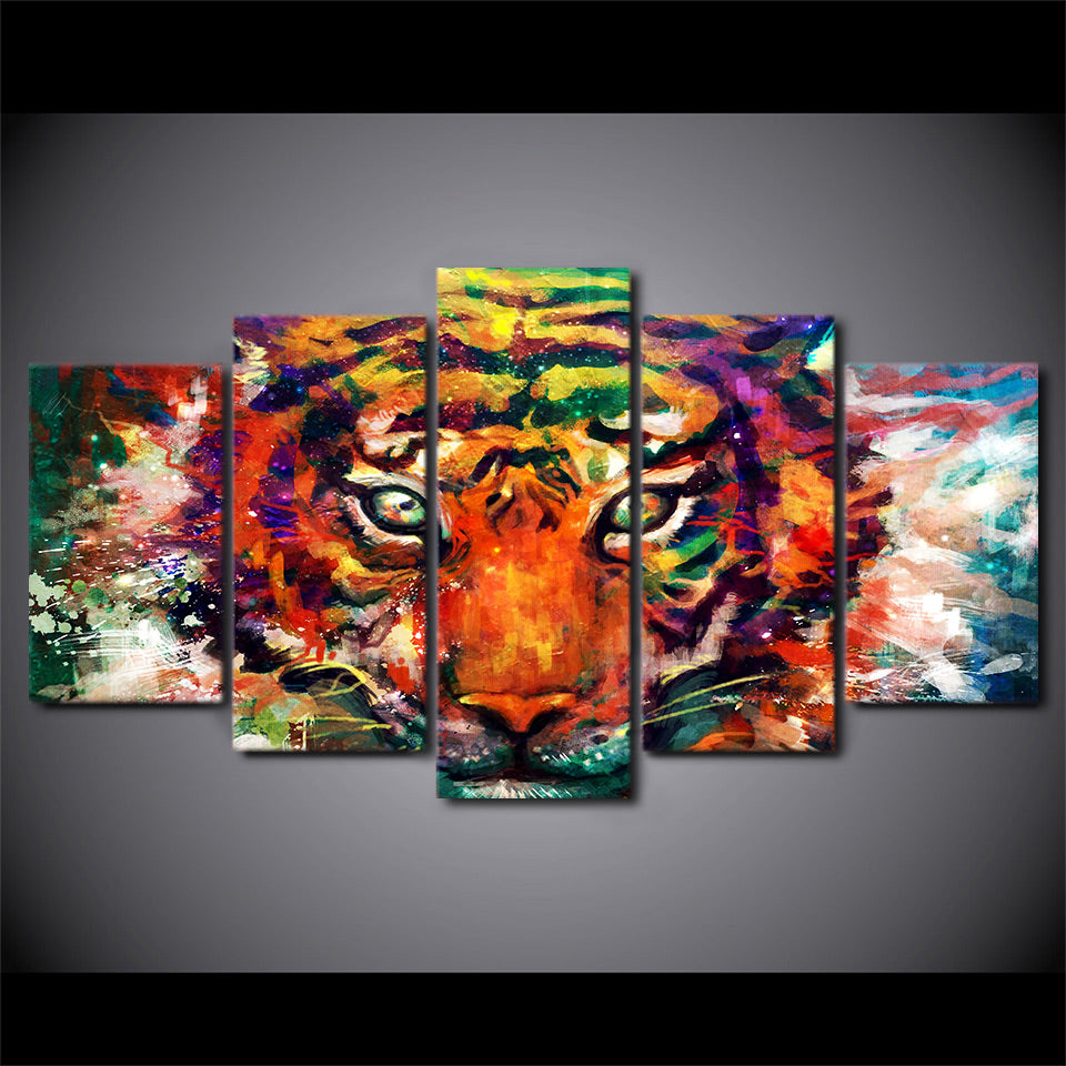 HD Printed Abstract Tiger Painting On Canvas Room Decoration Print Poster Picture Canvas
