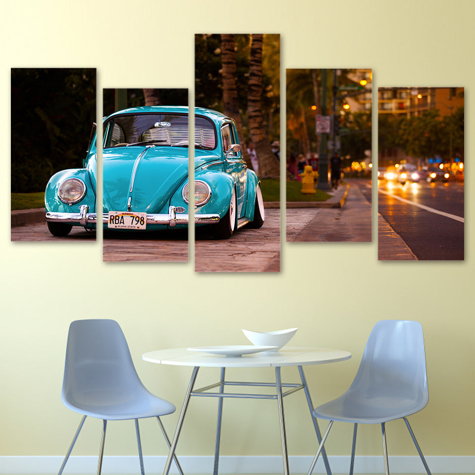 HD Printed Volkswagen Car Painting Canvas Print Poster Picture