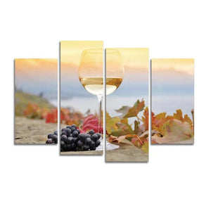 Sunrise Beach Wine Canvas Arts Painting HD Wall Home Decor Living Room Modular Arts