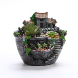 Micro Landscape Artificial Flowers Succulent Plants Pot Tiny Creative Flower Pot Holders Hanging Garden