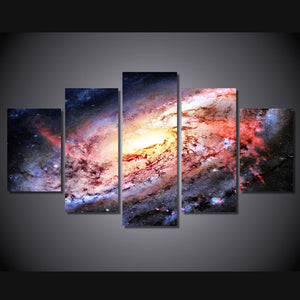5 Piece Wall Art Canvas Painting HD Print Universe Brilliant Galaxy Poster Picture Panel Paintings