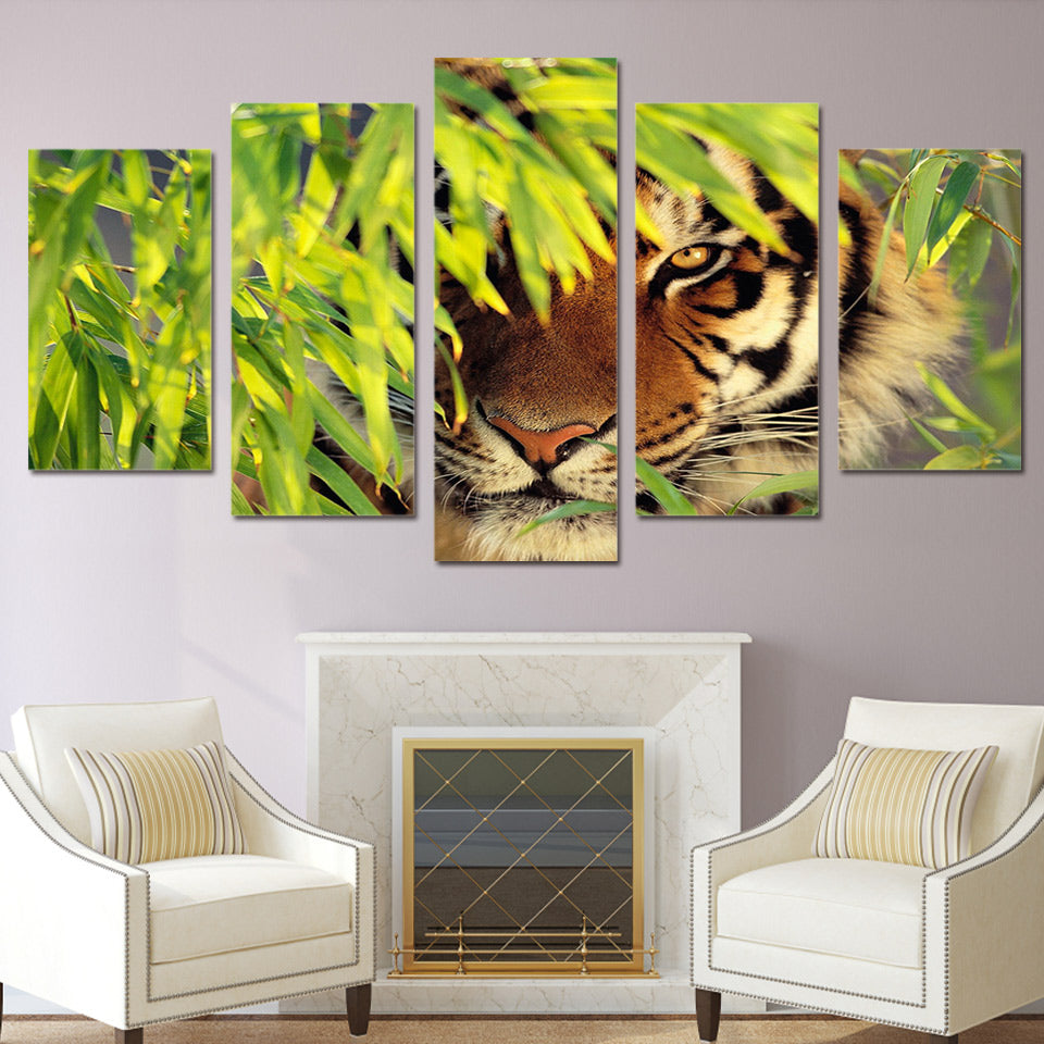 HD Printed Bamboo Tiger Painting On Canvas Room Decoration Print Poster Picture Canvas