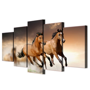HD Printed Animal Horse Group Painting Canvas Print Room Decor Print Poster Picture Canvas