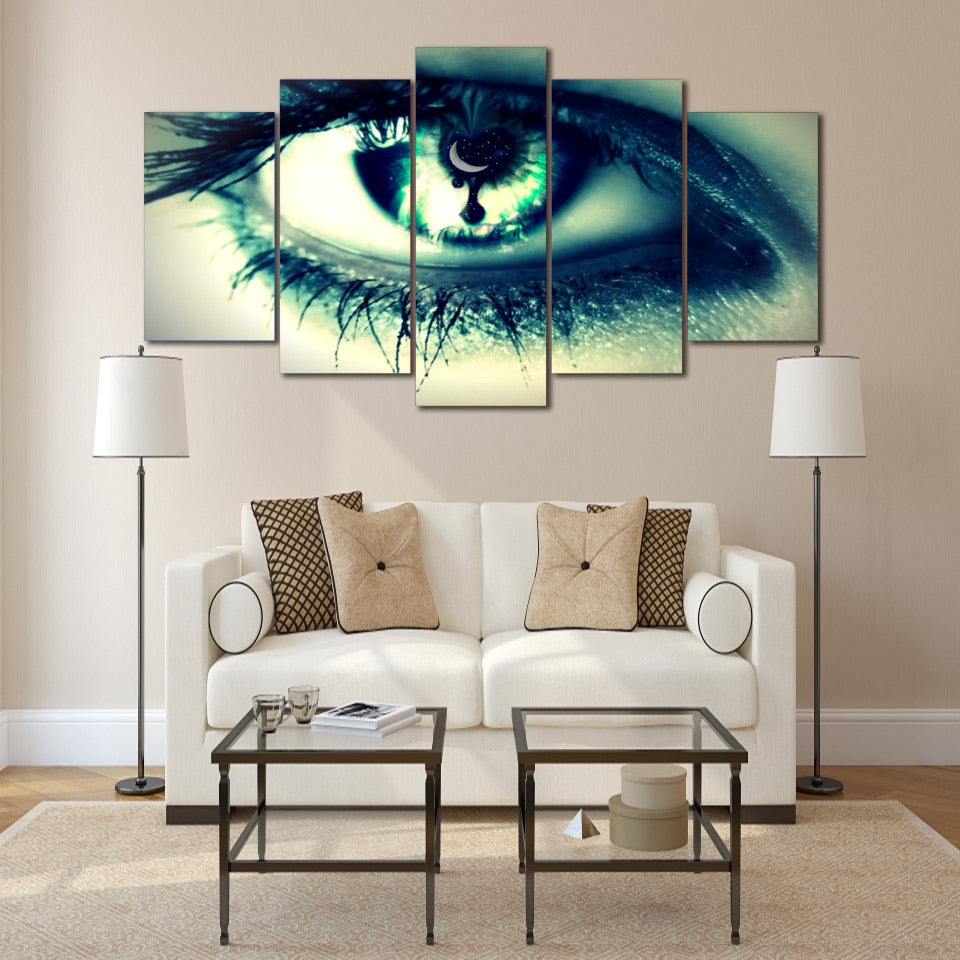 HD Printed Eyeball Painting On Canvas Decoration Print Poster Picture