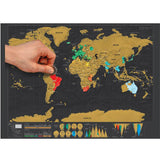 Ccratch Map with Scratch Off Layer Visual Travel Journal World Map Poster for Education Home