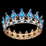 Pageant Full Circle Tiara Clear Austrian Rhinestones  Crown Wedding Bridal Crown Costume