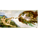 Canvas Art Print Creation of Adam Fresco Painting By World Famous Painting Canvas Wall Picture Art Poster
