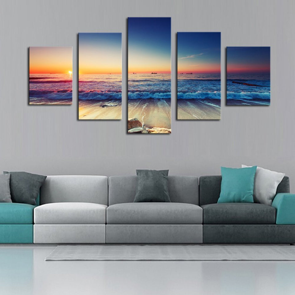 5 panels Home Wall Decor Painting Canvas Art HD Print Painting Canvas Wall Picture