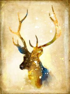 Triptych Nordic Abstract Gold Deer Elk Canvas Painting Noble Art Print Paintings Poster Wall Picture For Living Room Home Decor