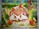 Oil Hedgehog Painting by Numbers Wall Pictures for Living Room Cuadros Canvas DIY Coloring