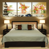 Panels Lily Flowers Art Canvas Wall Paintings Wall Pictures Canvas Prints