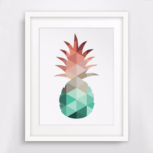Pineapple Print Canvas Art Poster Wall Pictures Canvas Painting Decor