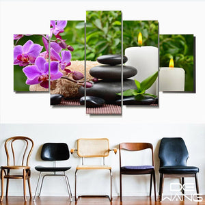 Canvas Art Posters Prints Vintage Picture By Number Painting Calligraphy Candle Lotus Flower