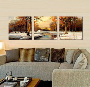 Scenery Trees Snow Portray Canvas Art Wall Decor Paintings Abstract Paintings Occident Style
