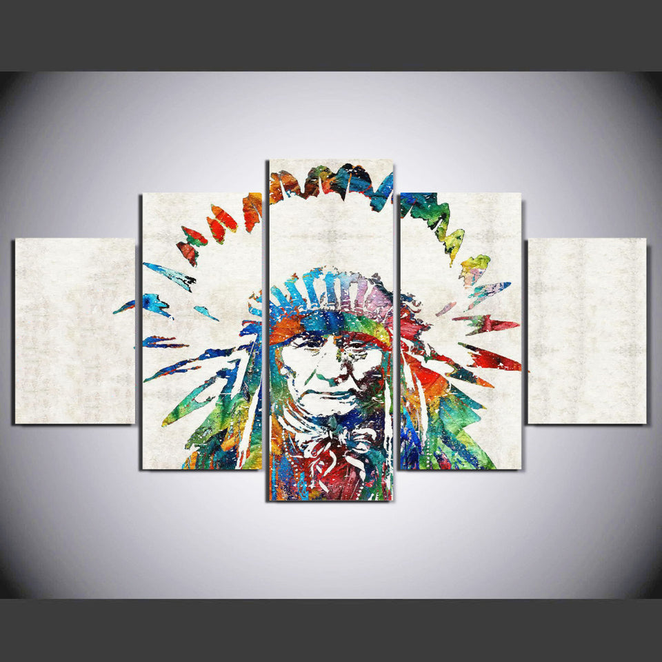 Abstract America Native Indian Painting Canvas Wall Art Picture Home Decor Living Room Canvas Print Modern Painting