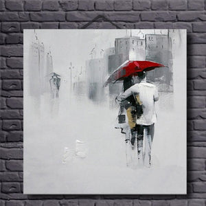 Oil Painting Canvas Close Lover Umbrella Abstract Canvas Art Decoration Pictures