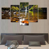 5 Pcs Landscape Canvas Art Modular Pictures Oil Painting On Canvas Home Decoration Paintings Wall Pictures