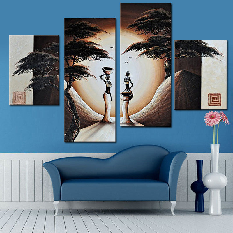 Abstract Landscape Oil Painting African Women Paintings ...
