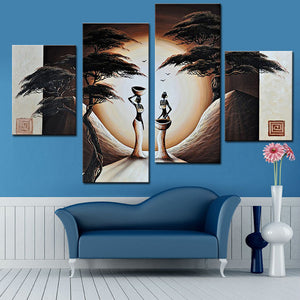Abstract Landscape Oil Painting African Women Paintings Canvas Art Hand Painted Canvas Painting