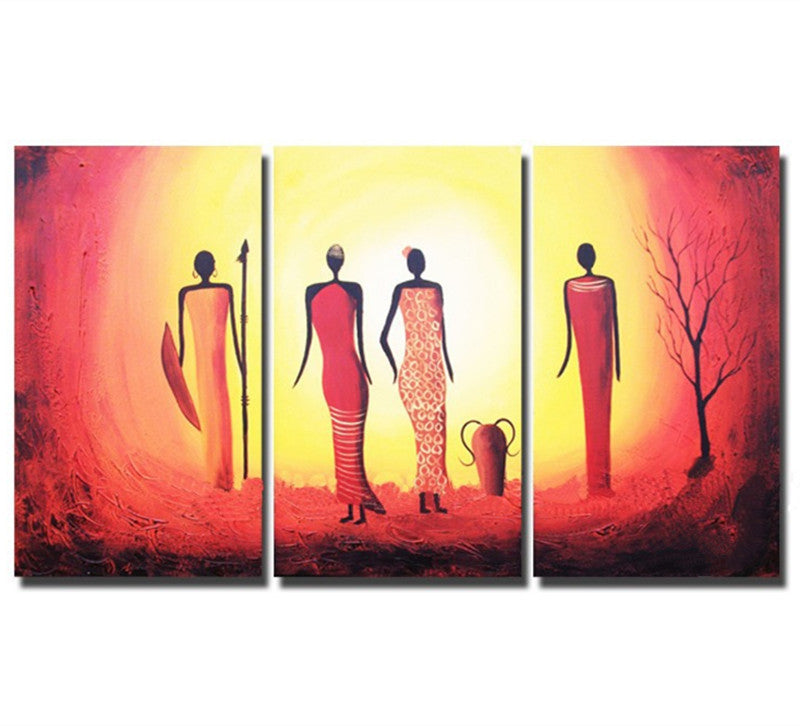 Painted Abstract African Woman Oil Paintings Home Decor Wall Art Picture Figure