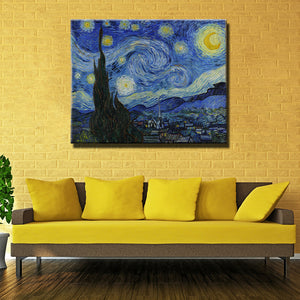 Printed Masters Starry Night Vincent Van Gogh Prints Reputation Oil Painting On Canvas Wall Art Picture