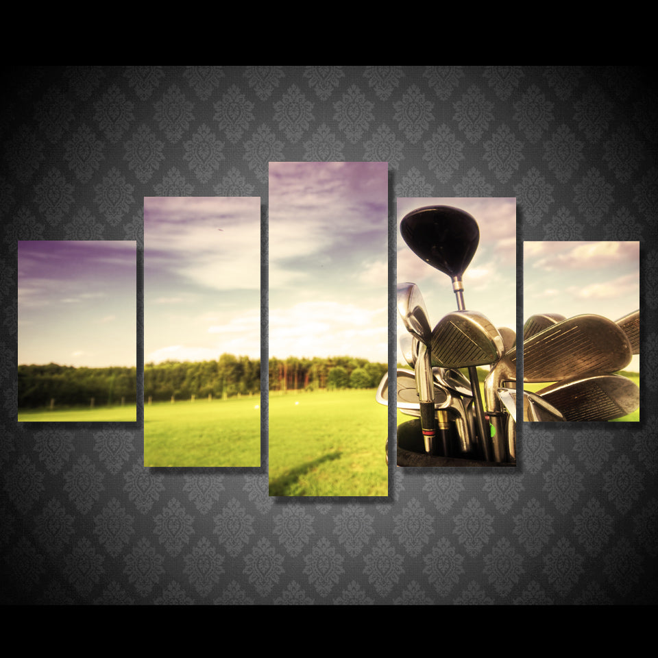 5 Pcs Canvas Golf Professional Golf Course Art Home Decor Canvas Painting Picture Poster Prints