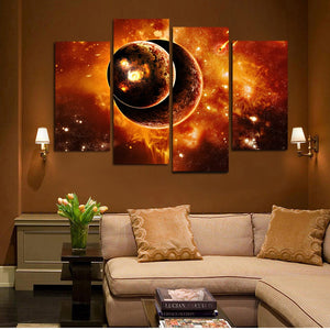 HD Printed Fantasy Universe Planet Painting Canvas Print Room Decor Print Poster Picture