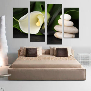 5 Piece Flower Painting Abstract Canvas Art Home Decoration Poster HD Printed Picture