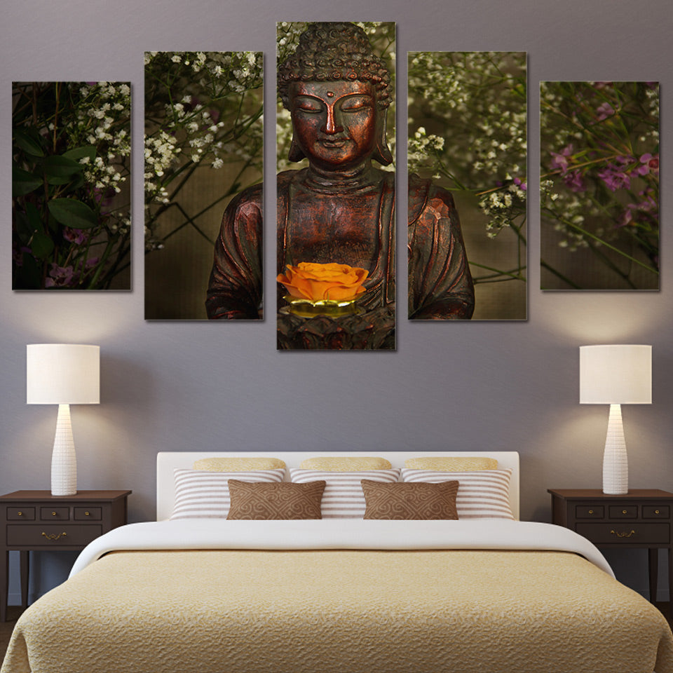 Canvas Art Printed Buddha Painting Print Poster Picture