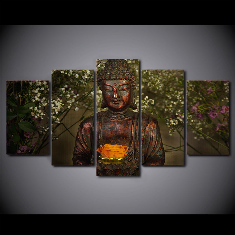 Printed Buddha Art Painting Canvas Print Room Decor Print Poster Picture