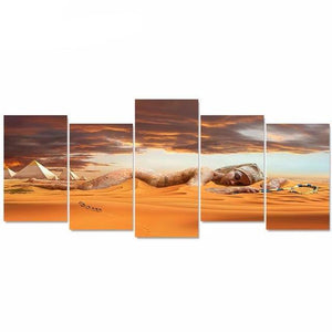 Abstract Canvas Egyptian Pyramid Art Painting 5 Pieces HD Print On Canvas