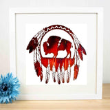 Native American Indian Symbolic Canvas Art Print Painting Poster Wall Pictures Bedroom Decor No Frame