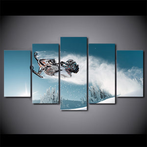 HD Printed Ski Painting On Canvas Room Print Poster Picture