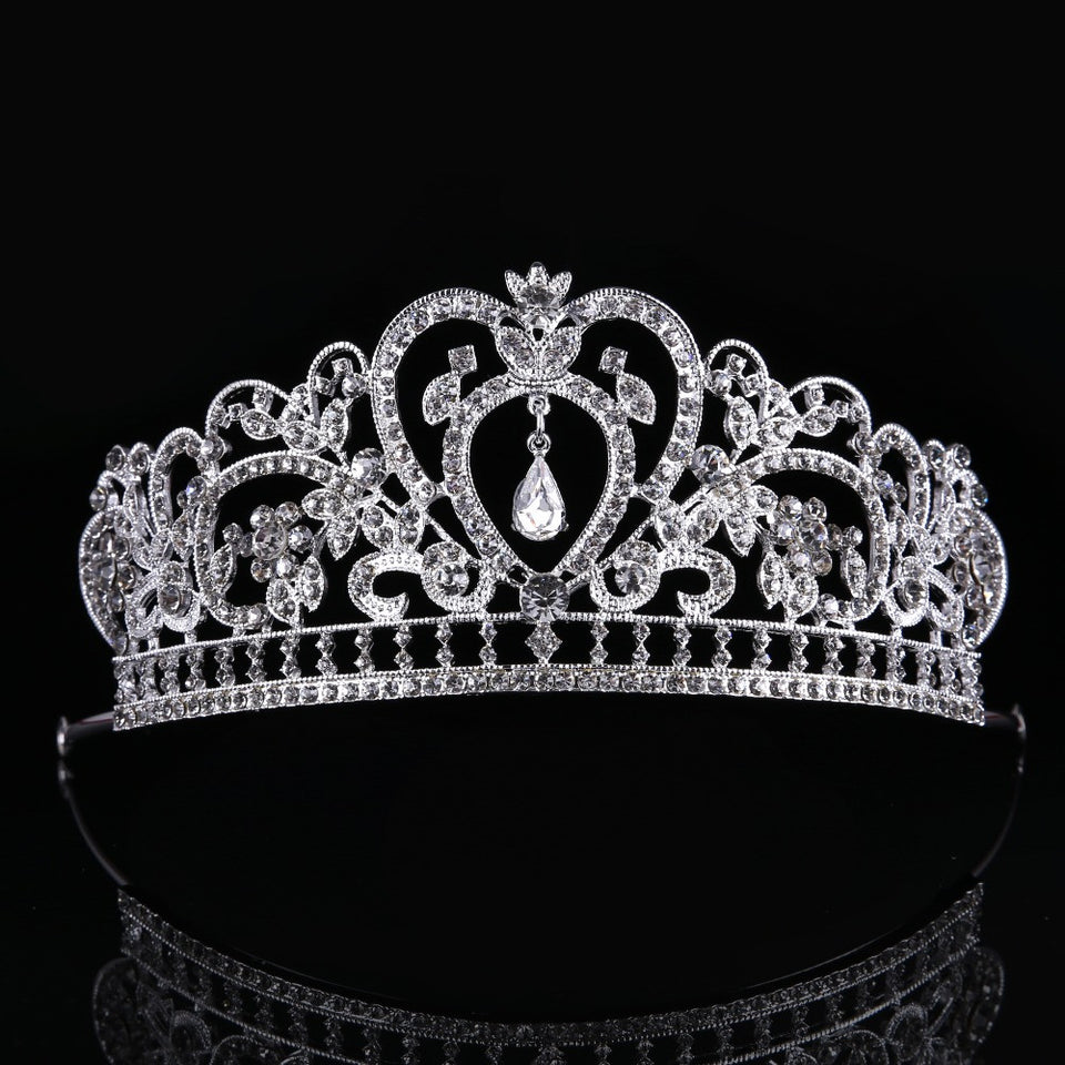 Elegant Bridal Crown Woman Tiaras Hair Jewelry Ornaments Bride Wedding Hair Accessories