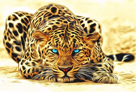 Leopard Animals Pictures Painting By Numbers DIY Canvas Oil Painting Home Decoration