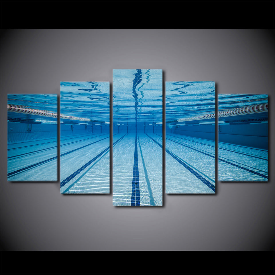 HD Printed Swimming Pool Underwater Painting Canvas Print Print Poster Picture