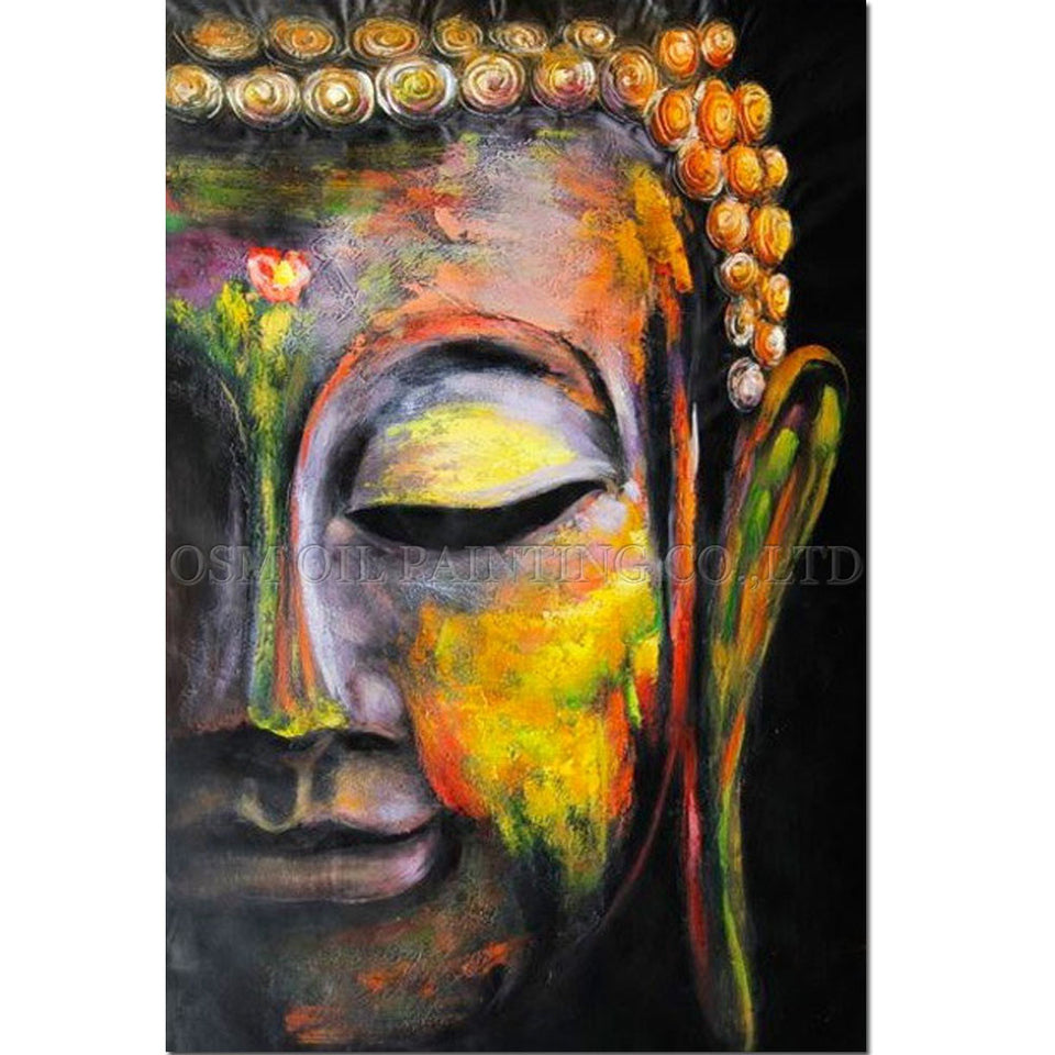 Artist Handmade Abstract Figure of Buddha Pictures Handmade Buddha Art Painting