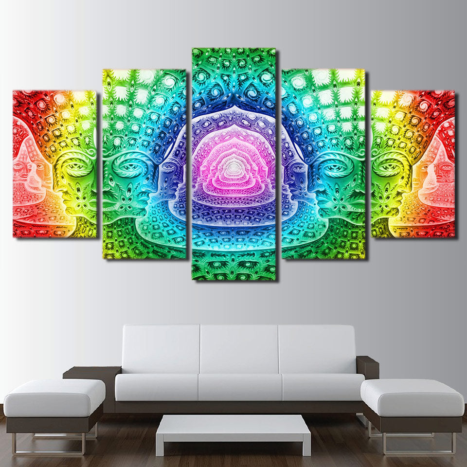 HD Printed Psychedelic Statues Painting Canvas Print Room Decor Print Poster Picture Canvas