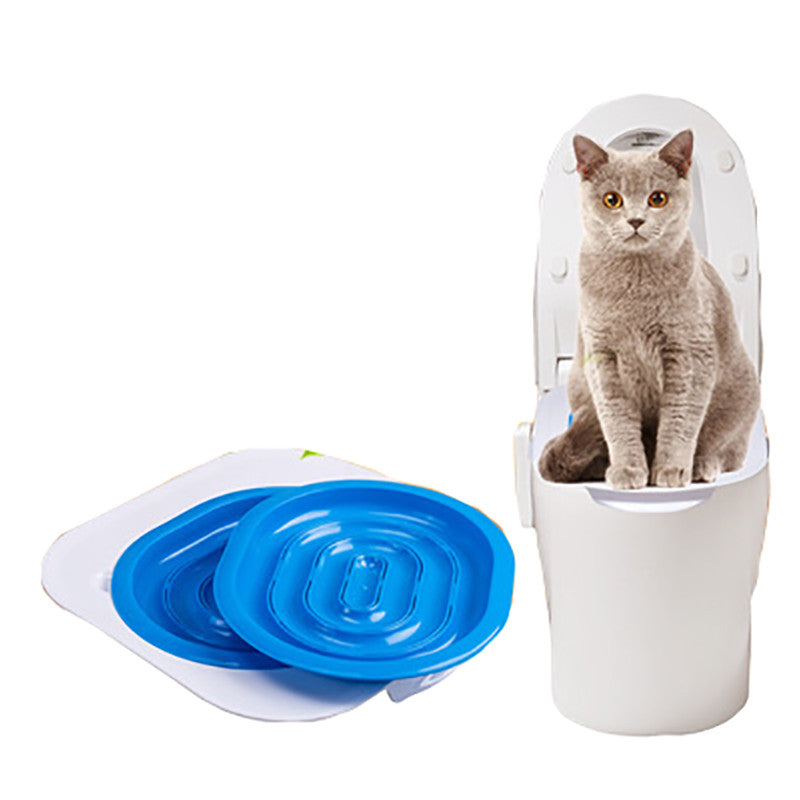 Pet Cat Toilet Seats Training Kit System Products Accessories For Cats Training Behaviour