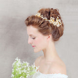 Crown Simulated Pearl Wedding Tiaras  Alloy Jewelry Hair Accessories Sweet Wedding Hair