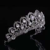 Crystal Glass Tiara Crown Woman Hair Jewelry Rhinestones Wedding Crown Bride Accessories