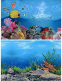 PVC Double Sided Background Poster Fish Tank Ocean Decorative Wall Aquarium Decoration