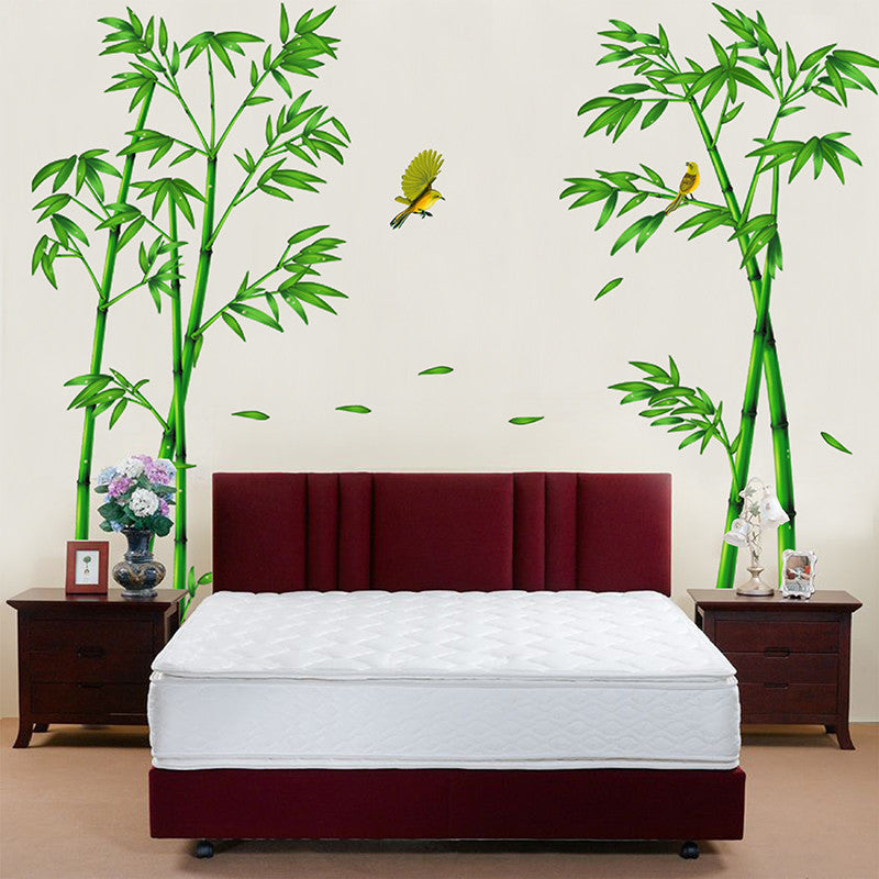 Green Bamboo Forest Wall Stickers Vinyl Material Decorative Mural Art for Living Room Decoration Home Decor