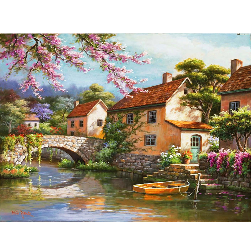 Countryside Landscape Diy Digital Painting By Numbers Kits Acrylic Picture Home Wall Art Decor