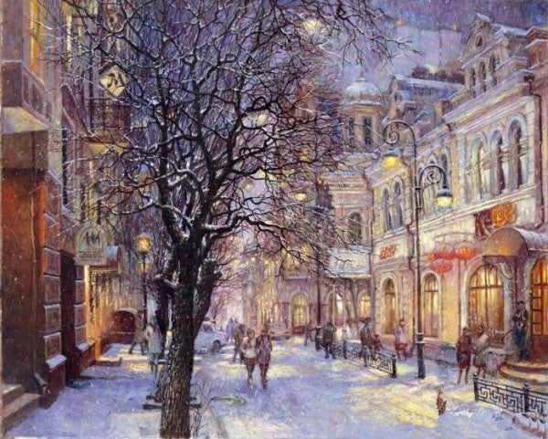 Snow Scene Pictures Painting By Numbers Wall Art Of Landscape DIY Canvas Oil Painting Home Decor