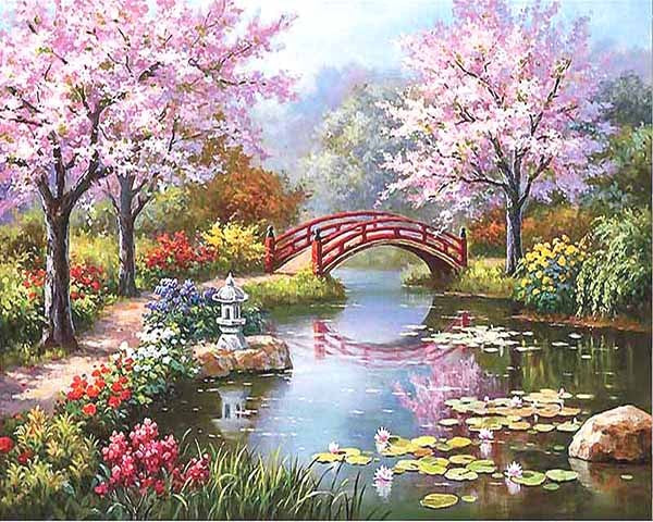 Fairyland Romantic DIY Painting By Numbers Canvas Painting Home Decor Handpainted Wall Art Picture