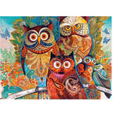 Diamond Embroidery Paintings Rhinestone Pasted 5D Cross Stitch Owl Diy Diamond Painting Mosaic Home Decoration Animals