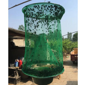 fly flies kill Pest Control Reusable Hanging Fly Catcher Killer Flytrap Zapper Cage Net Trap Garden Supplies killer-flies