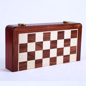 Retro Alloy Chess Pieces Wooden Folding Chessboard Chess Game Set King Leaders Friends Family