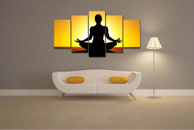 HD Print Yoga Painting On Canvas Art Poster Picture Living Room Wall Decor Home Wall Art Painting